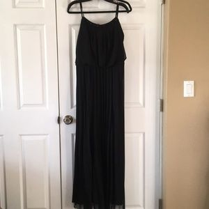 NWT Bisou Bisou Pleated Maxi Dress, Sz 16